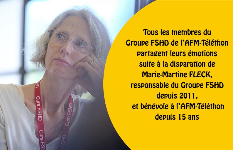 Hommage à Marie-Martine FLECK, responsable Groupe FSHD AFM